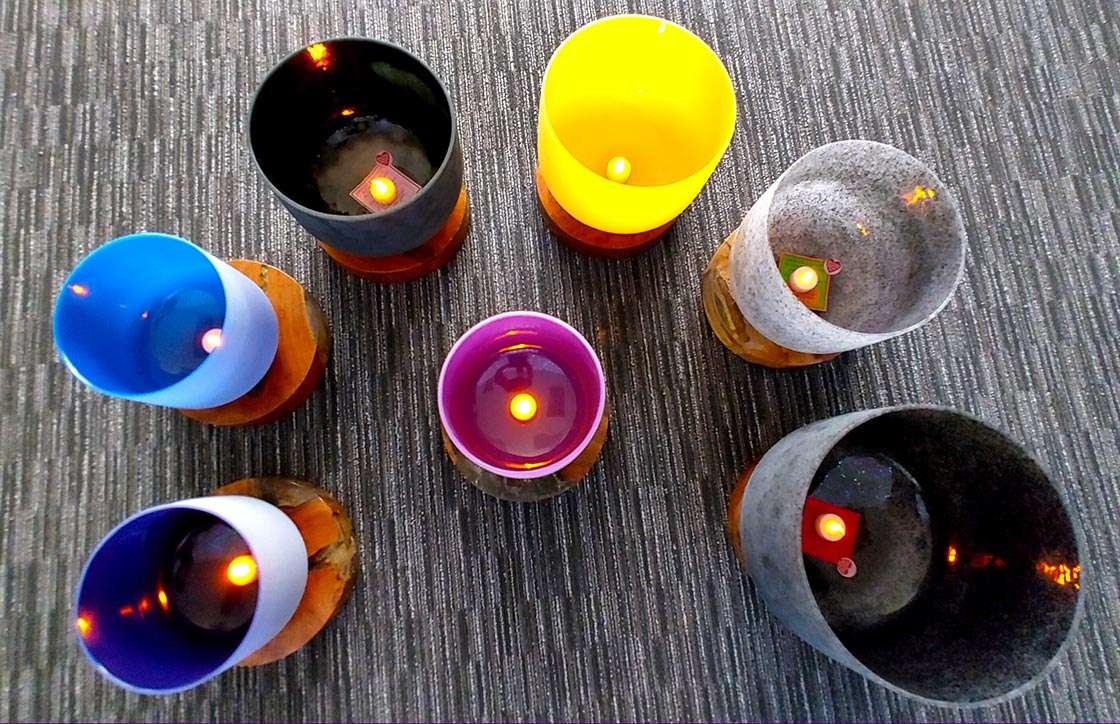 Crystal Bowls Sound Bath Healing Therapy Holographic Singing Quartz Fusion Bowls Kevin Foresman Lisa Foresman Enlumnia Energy Spa Dallas TX Copyright 2021